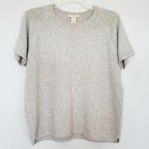 J. Jill short sleeve cashmere sweater tee